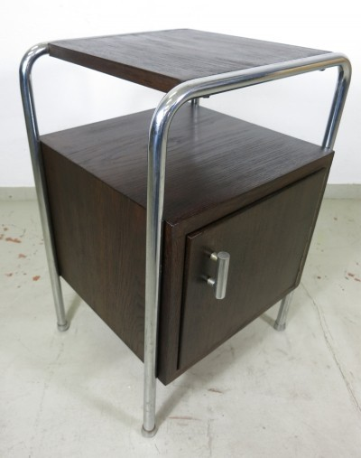 Tubular steel bedside table for Robert Slezak, Czech Republic, 1930s