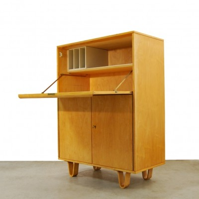 Vintage Birch series CB07 secretary by Cees Braakman for Pastoe, 1950s
