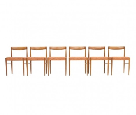 Set of Six Teak Chairs by H. W. Klein for Bramin, 1960s