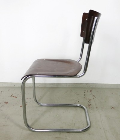 Tubular steel cantilever chair by Mart Stam