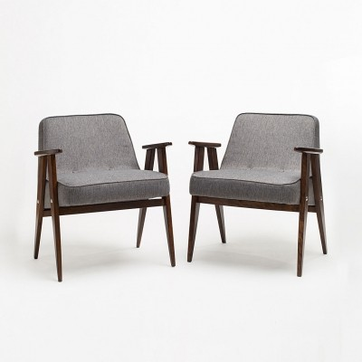 Set of two 366 armchairs by J. Chierowski