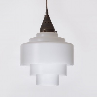 Modul L1 hanging lamp by Miloslav Prokop for Inwald, 1930s