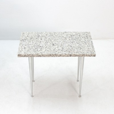 Side table with Marble top & aluminum legs