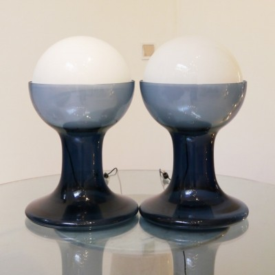 Pair of 'Model LT 216' Table Lamps by Carlo Nason for Mazzega
