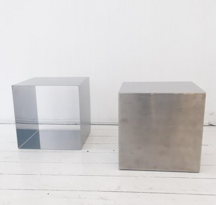 Pair of Cube Coffee Tables By Maria Pergay, France 1960