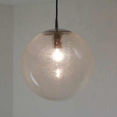 Large bubble glass hanging lamp by Peill & Putzler, 1970s
