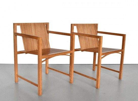 2 x Latjes-stoel lounge chair by Ruud Jan Kokke for Metaform, 1980s