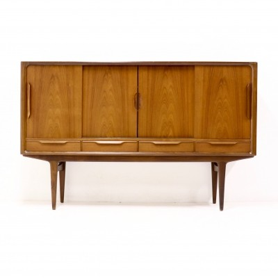 Mid century Sculptural Teak Highboard, Danish Design 1960s