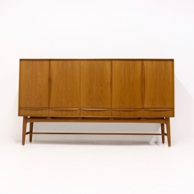 Teak highboard by Svend Aage Madsen for K. Knudsen & Søn, 1950s