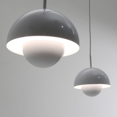Pair of Mid-century pendant lamps by Egoluce, 1980s