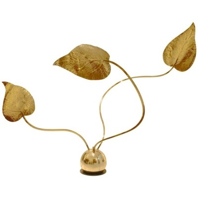 Modulable Leaf-Shaped Brass Lamp by Tommaso Barbi, Italy