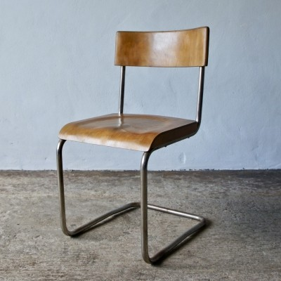 Tubular Bauhaus Chair by Colombus Milan, 1930's