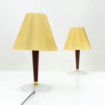 Pair of Fabbian table lamps with Glass diffuser, 1990s