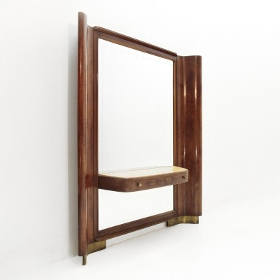 Italian mid-century mirror with console, 1940s