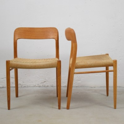 Set of four 'model 75' chairs by Niels Otto Møller for Møllers Mobelfabrik, 1960