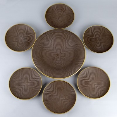Rare 1930s Art Deco Ceramic Bowl Set by Rosenthal