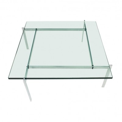 Poul Kjaerholm PK 61 Coffee Table in Steel & Glass by E. Kold Christensen, Denmark