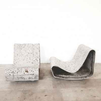 Pair of Loop chairs by Willy Guhl, 1990s