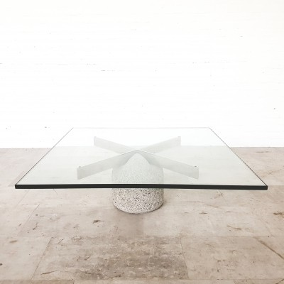 Paracarro Coffee table by Giovanni Offredi for Saporiti, 1970s