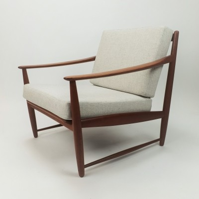 Mid Century Danish Design Teak Easy Chair, 1960s