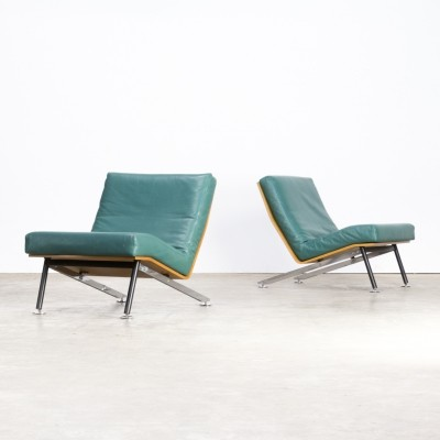 Pair of low lounge chair by Felice Rossi, 1960s