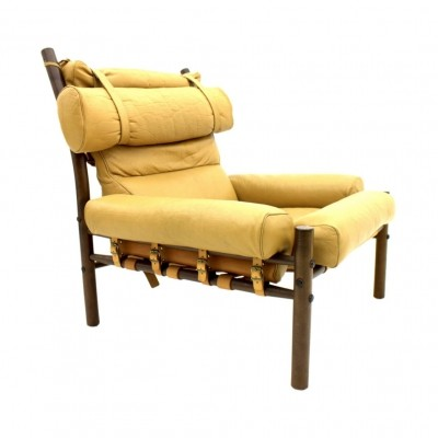Arne Norell Leather 'Inca' Lounge Chair, Sweden 1965