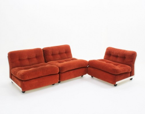 Vintage set of 3 modular 'Amanta' chairs by Mario Bellini for B&B, 1960s