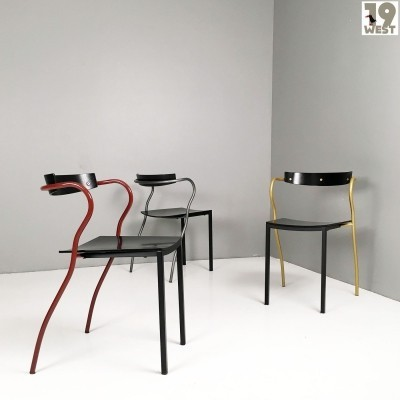 Three Rio chairs by Pascal Mourgue for Artelano