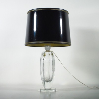 Engraved Crystal Table Lamp by Elis Bergh for Kosta, 1943