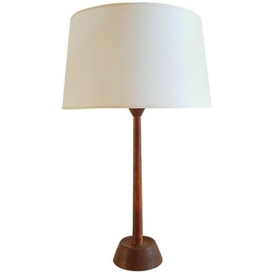 Table Lamp in Oak by Luxus, Sweden 1950s