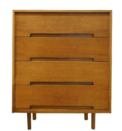 Oak Veneer Chest Of Drawers By John And Sylvia Reid For Stag, UK 1960s