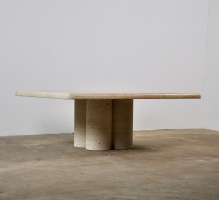 Table In Travertine By Mario Bellini For Cassina
