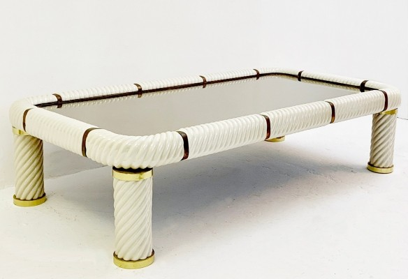 Porcelain Coffee Table By Tommaso Barbi, Italy 1970s