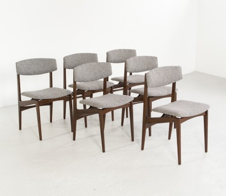 Set of 6 Danish chairs in rosewood, 1960s