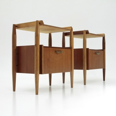 Pair of Italian mid century nightstand tables, 1960s