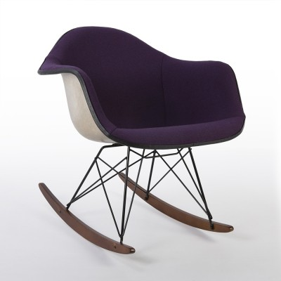 Purple Herman Miller Vintage Eames Upholstered RAR Arm Shell Chair