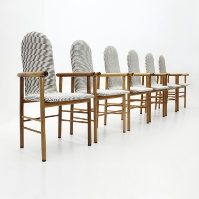 Set of 6 Italian mid-century dining chairs, 1970s
