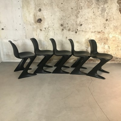 Set of 5 vintage 'Kangaroo' Chairs by Ernst Moeckl for Horn, 1960s