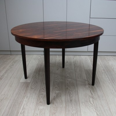 Extendable dining table in rosewood by P. Volther, Denmark 1960s