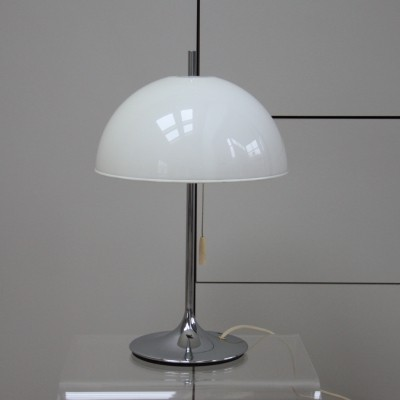 Wila Germany Table lamp in chrome plated steel & plexiglass, 1960's