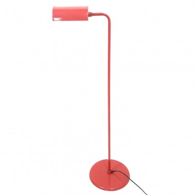 Bright red floor lamp by Abo Randers Denmark, 1970s