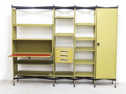 'Spazio' Shelving with Cabinets & Drawers by Studio BBPR for Olivetti, 1960