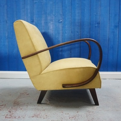 Jindrich Halabala Bentwood Armchair by Thonet, 1930