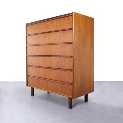 Vintage Danish chest of 6 drawers by Hanbjerg Møbelfabrik