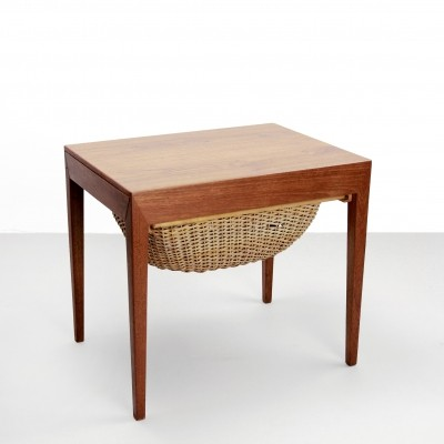 Danish design Teak sewing table by Severin Hansen