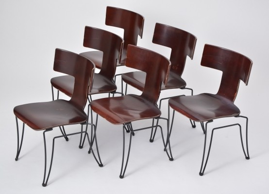 Set of Six Anziano Dining Chairs by John Hutton for Donghia, 1980s