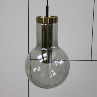 Smoked glass pendant lamp by Raak Amsterdam