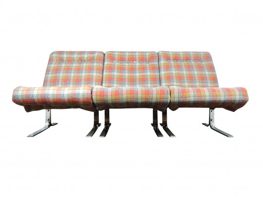 Danish Three-Sectional Modular Sofa, 1960s