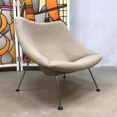 Vintage design 'Oyster' model F157 lounge chair by Pierre Paulin for Artifort