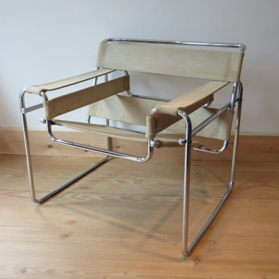 Canvas Wassily Chair by Marcel Breuer for Gavina, Italy
